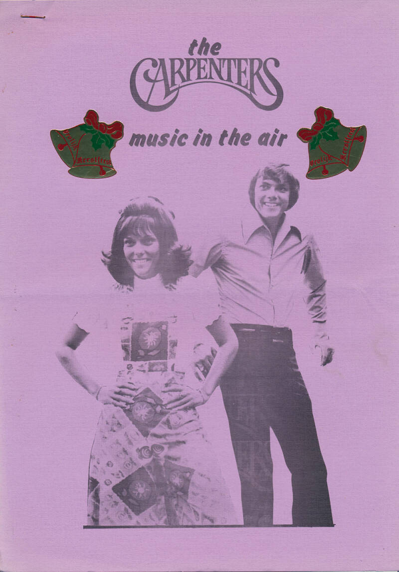 The Carpenters - Music In The Air issue 3 - December 1974 [Holland] - Magazine