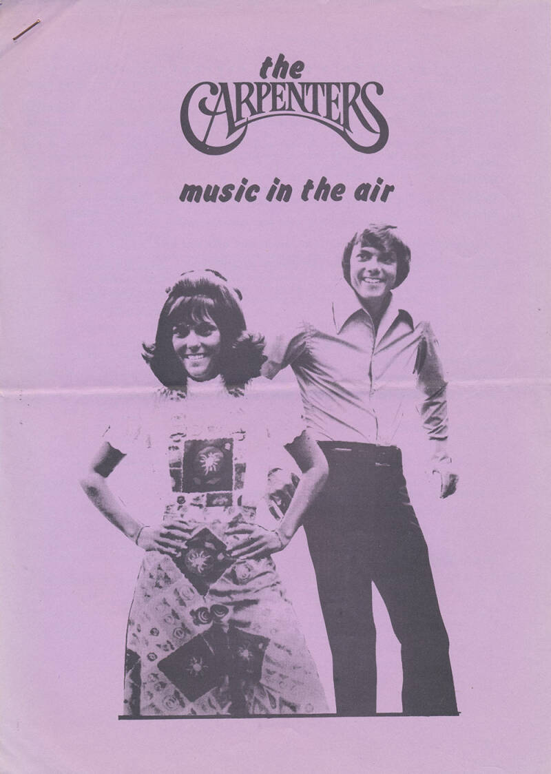 The Carpenters - Music In The Air issue 4 - February 1975 [Holland] - Magazine