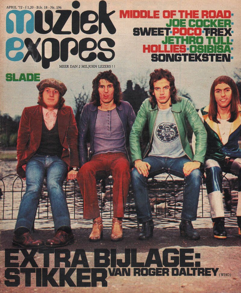 Muziek Expres issue 196 - April 1972 [Holland] - Magazine