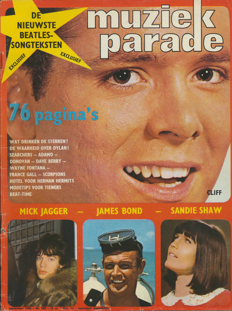 Muziek Parade issue 102 - September 1965 [Holland] - Magazine