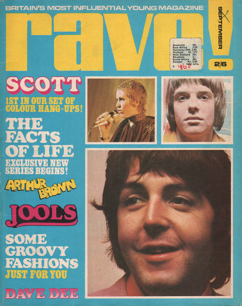 Rave - September 1968 [UK] - Magazine
