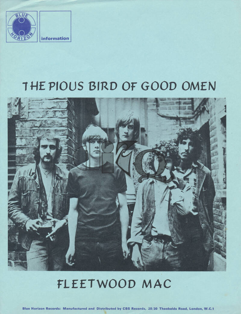 Fleetwood Mac - The Pious Bird Of Good Omen - 1969 [Holland/UK] - Press Kit