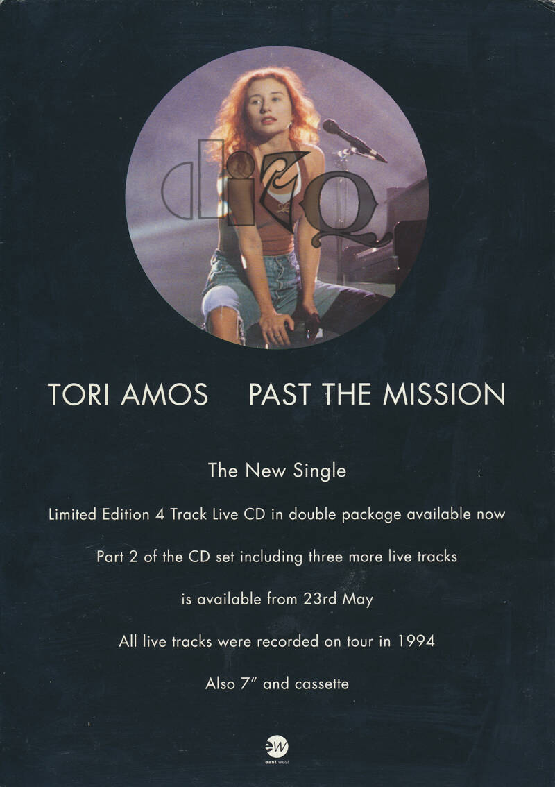 Tori Amos - Past The Mission - 1994 [UK] - Counter Display