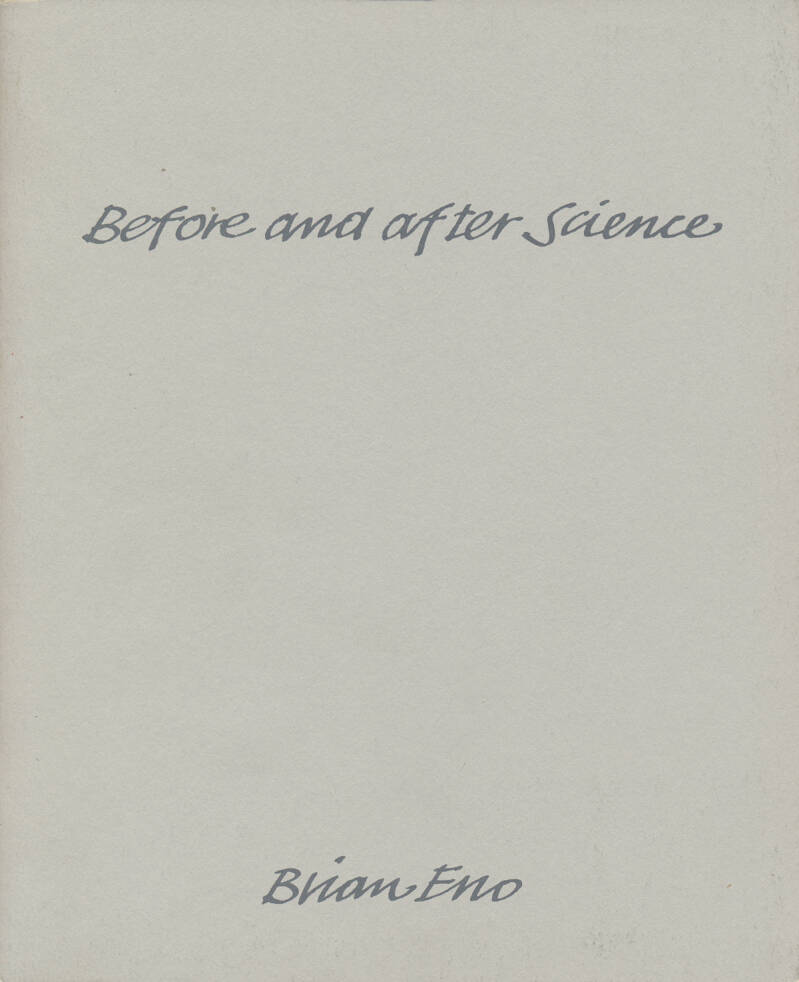 Brian Eno - Before And After Science - 1977 [UK] - Press Kit