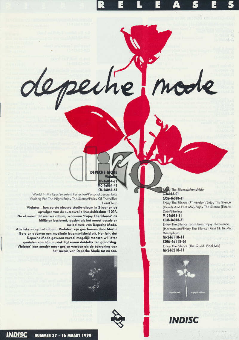 Depeche Mode (and others) - Violator - March 16, 1990 [Holland] - Press Release