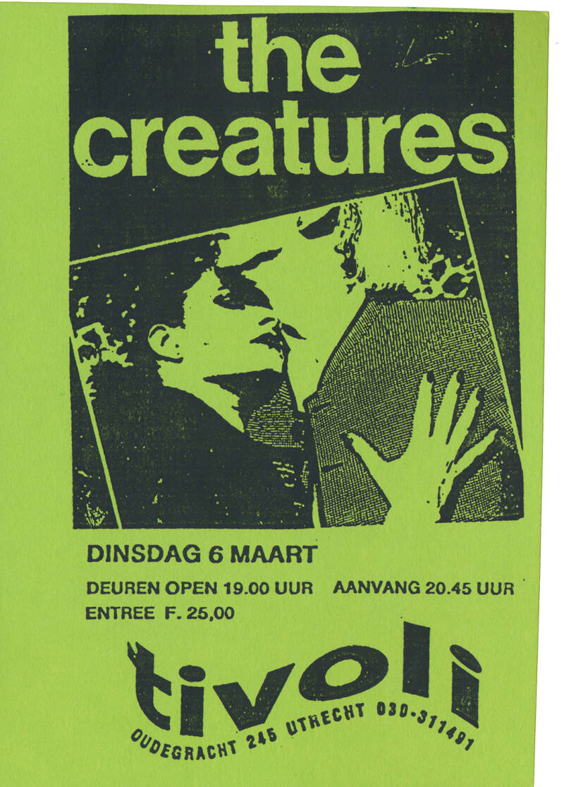 The Creatures (Siouxsie and the Banshees) - Tivoli, Utrecht, March 6, 1990 [Holland] - Ticket Stub