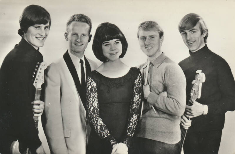 The Blue Comets - 1960s [Holland] - Publicity Photocard