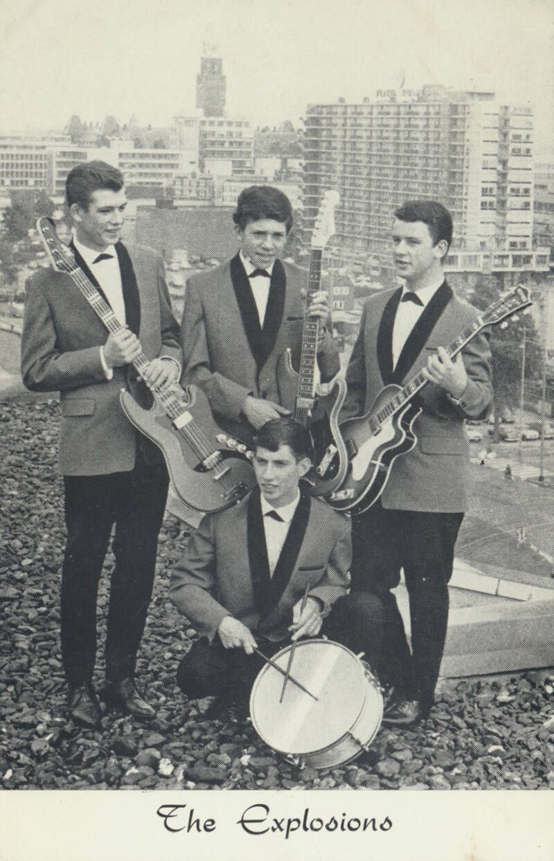 The Explosions - 1960s [Holland] - Publicity Postcard