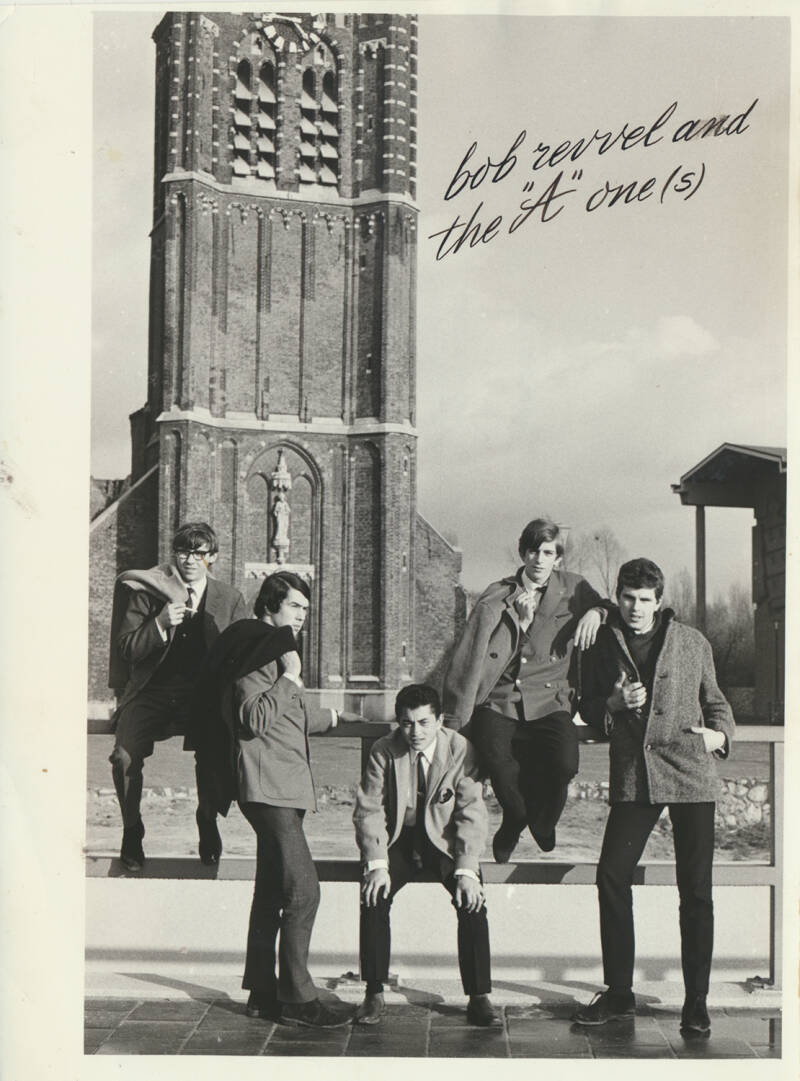"""Bob Revvel and the """"A"""" one(s) - 1960s [Holland] - Publicity Photo"""