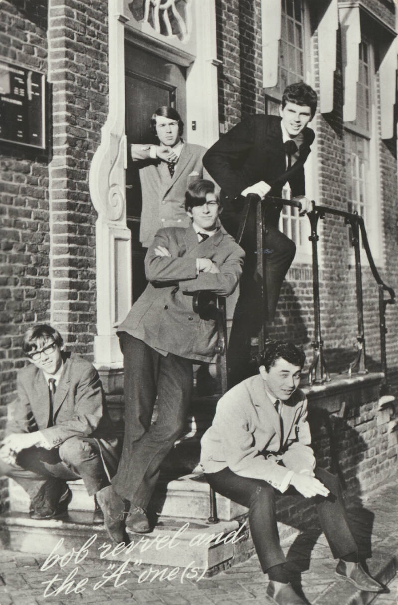 """Bob Revvel and the """"A"""" one(s) - 1960s [Holland] - Publicity Postcard"""