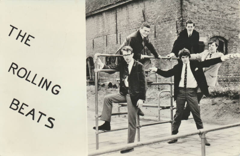 The Rolling Beats - 1960s [Holland] - Publicity Postcard