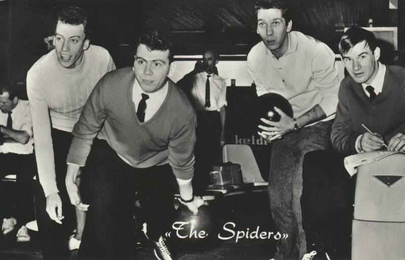 The Spiders - 1960s [Holland] - Publicity Postcard