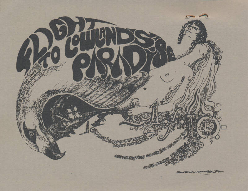 The Crazy World Of Arthur Brown - The Golden Earrings - Group 1850 - George Cash - Social Deviants - The Motions - The Zipps - The Incredible String Band - A Flight to Lowlands Paradise, Jaarbeurs, Utrecht, November 24-25, 1967 [Holland] - Ticket Stub