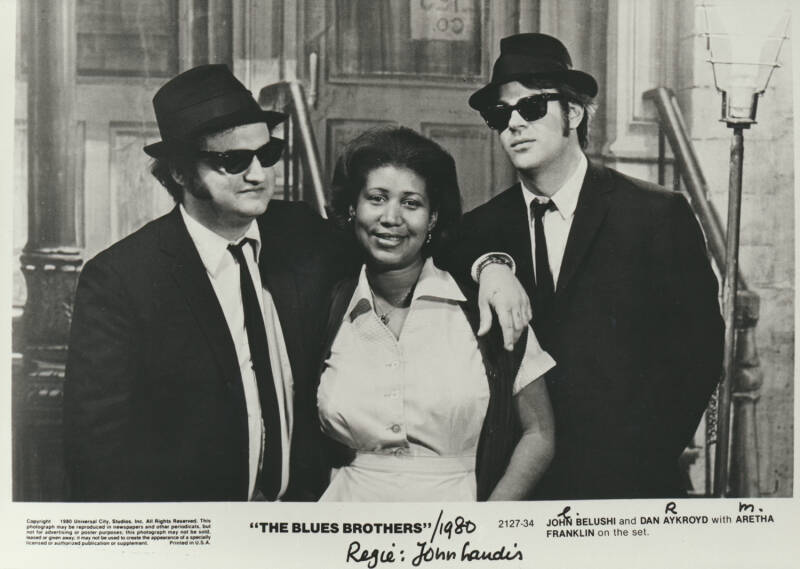 The Blues Brothers with Aretha Franklin - 1980 [Holland] - Publicity Photo