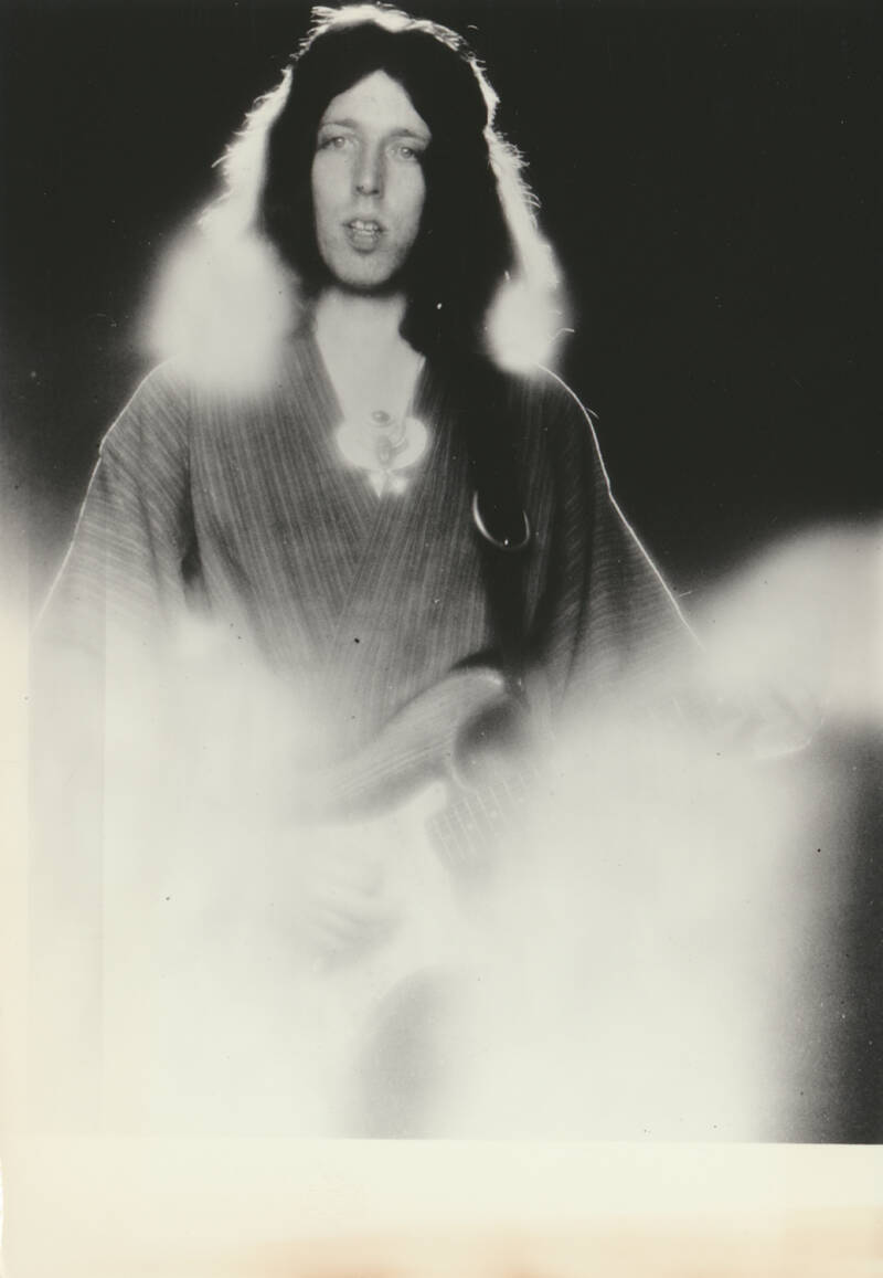 Steve Hillage (Gong, System 7) - 1970s [Holland] - Publicity Photocard