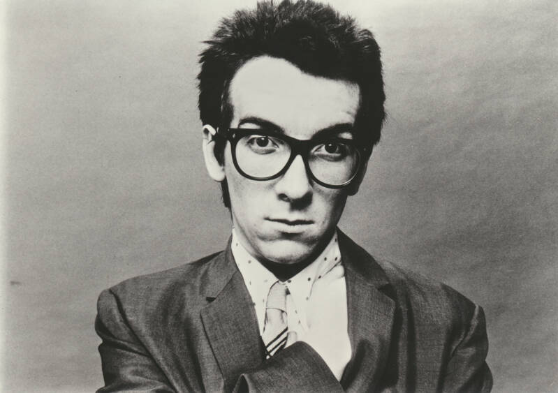 Elvis Costello - 1970s [Holland] - Publicity Photocard