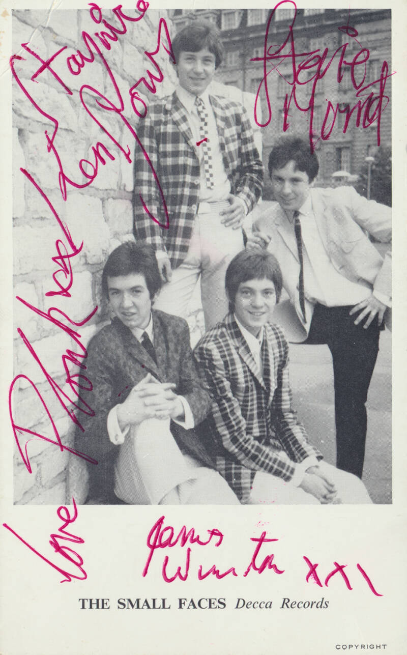 The Small Faces - Whatcha Gonna Do About It - August 1965 [UK] - Publicity Photocard [autographs]