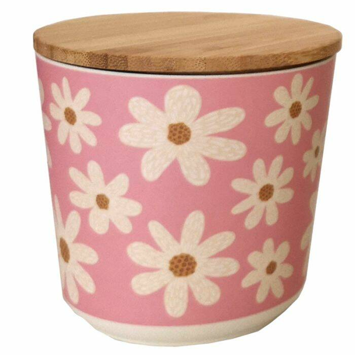 ronde pot bamboe Margriet (S)