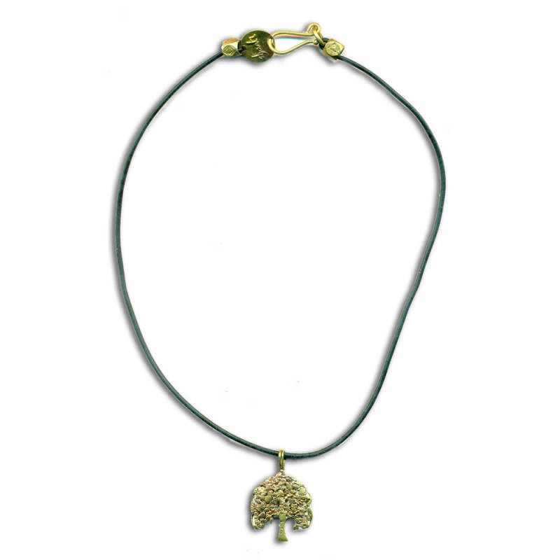 Bodhiboom Rubber Ketting Gerecycled Messing 45 cm