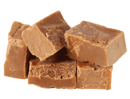 Clotted Cream Fudge, crumbly