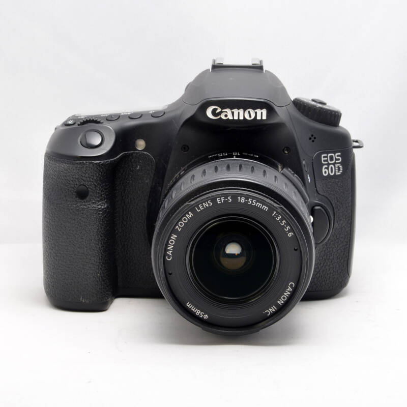 Canon 60D with canon 18-55mm EFS