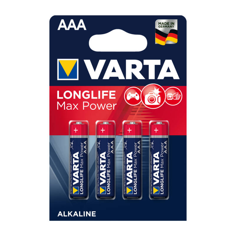 Varta AAA Longlife Max Power 1,5 volt