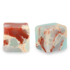 Natuursteen cube Marble light turquoise blue 4mm