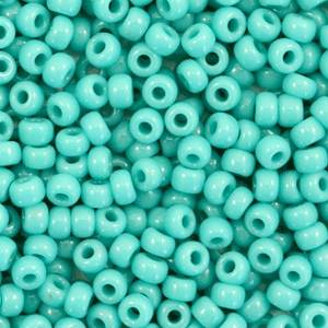 412 Opaque turquoise green 8/0