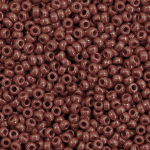 419 Opaque red brown 11/0