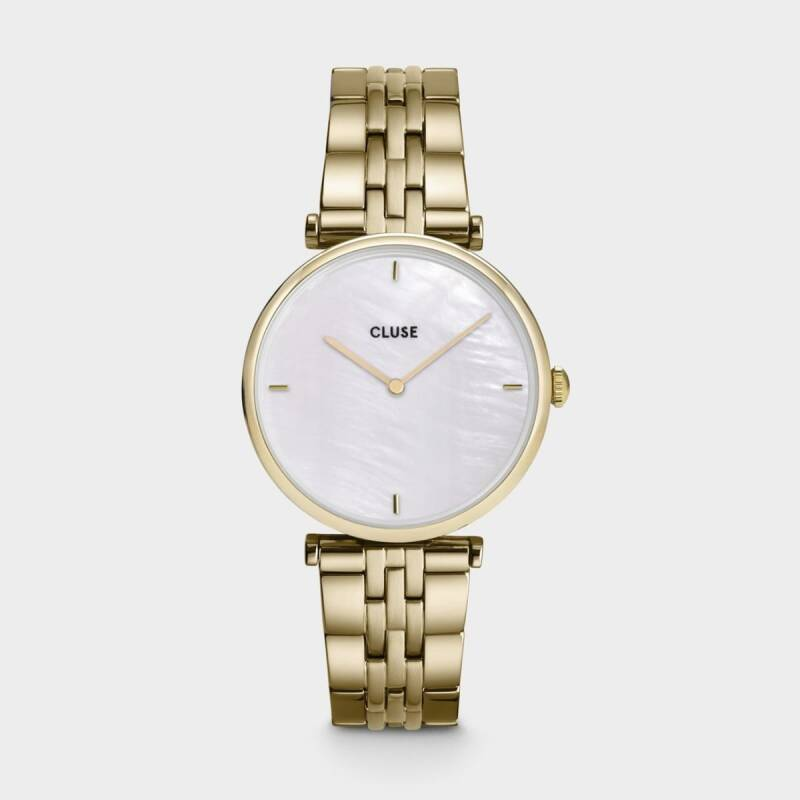 Horloge Triomphe Steel White Pearl, Gold Colour CLUSE