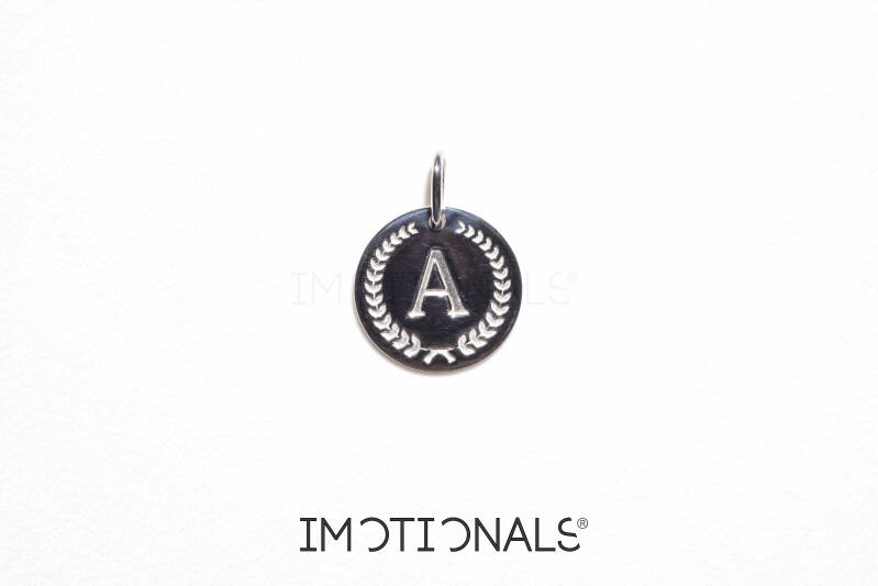 Imotionals Coin Hanger Letter A Zilver