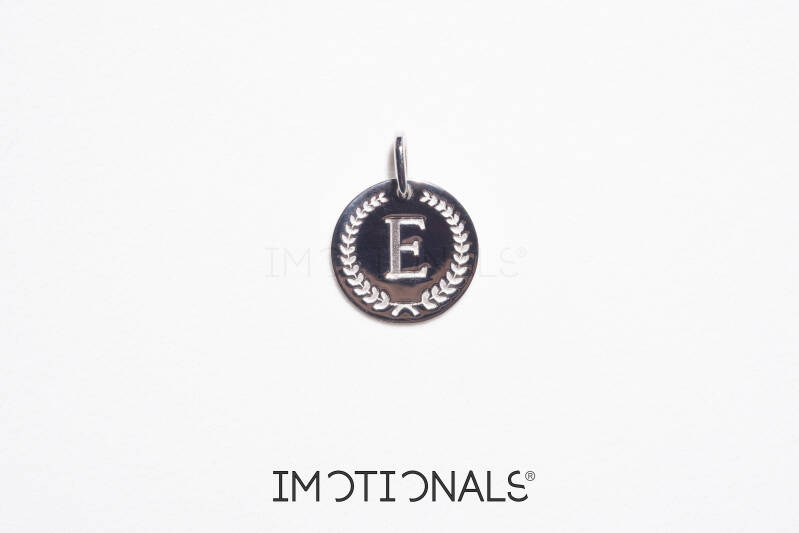 Imotionals Coin Hanger Letter E Zilver