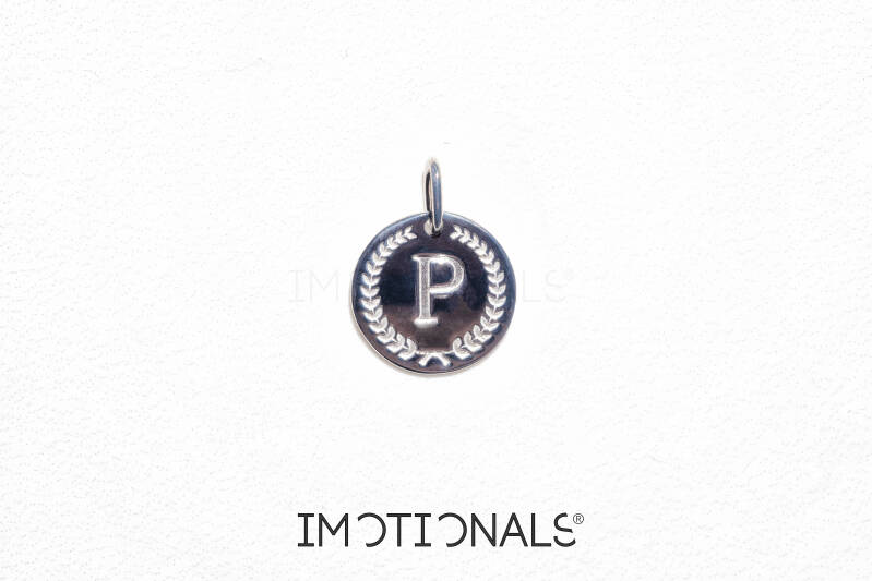 Imotionals Coin Hanger Letter P Zilver