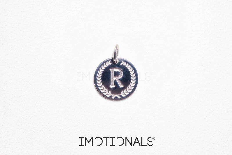 Imotionals Coin Hanger Letter R Zilver