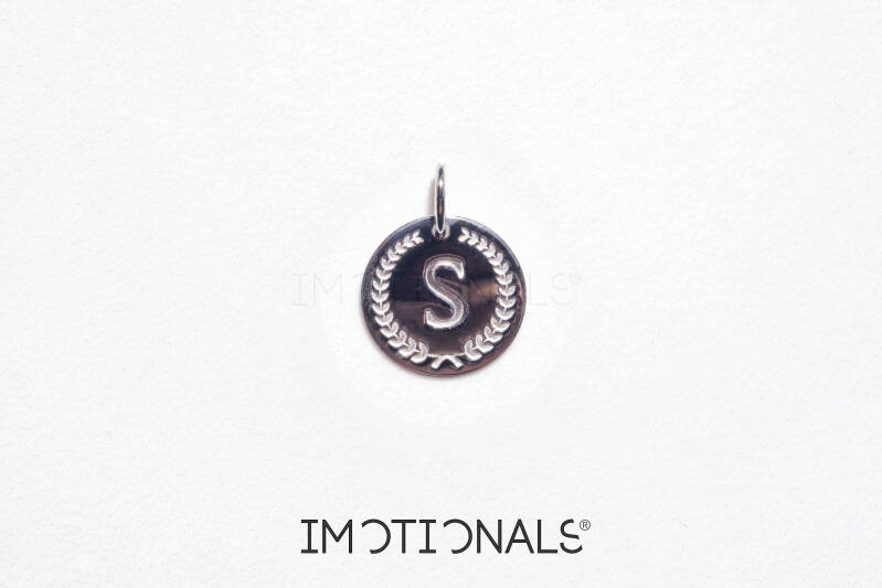 Imotionals Coin Hanger Letter S Zilver