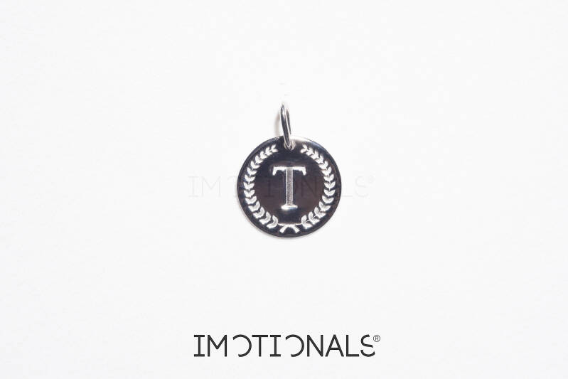 Imotionals Coin Hanger Letter T Zilver