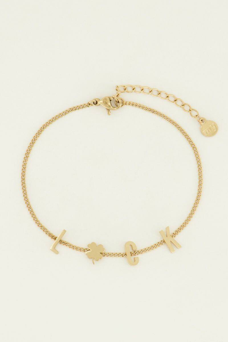 Armband Luck Letters Goud My Jewellery