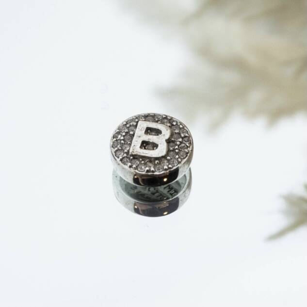 Imotionals Crystal Letter B Zilver
