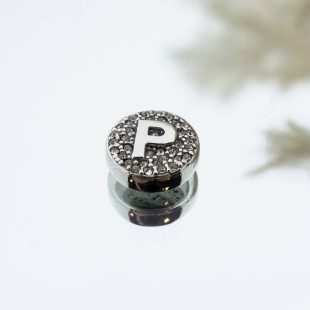 Imotionals Crystal Letter P Zilver