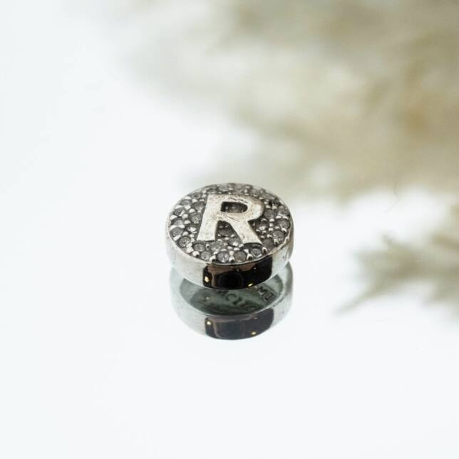 Imotionals Crystal Letter R Zilver