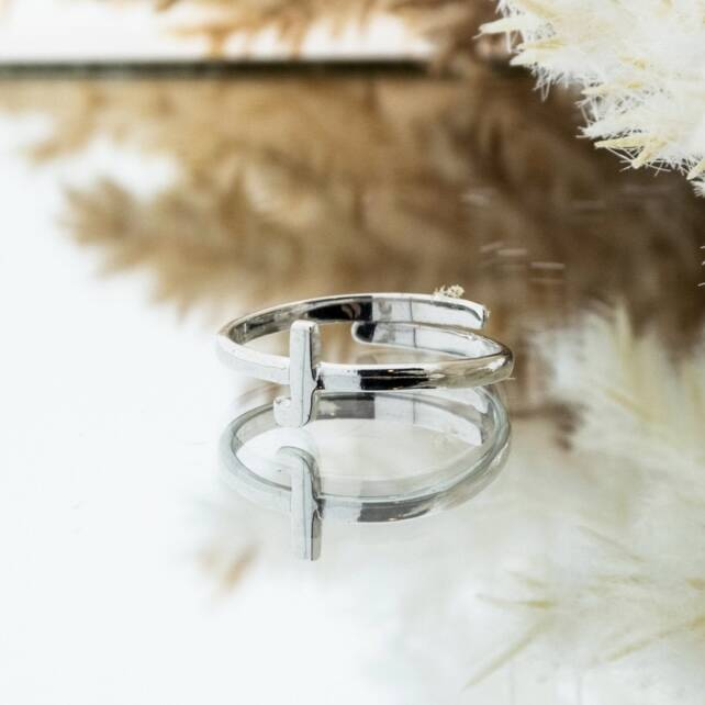 Imotionals One Size Letter Ring J Zilver