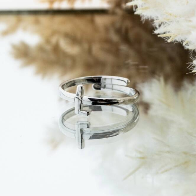 Imotionals One Size Letter Ring L Zilver