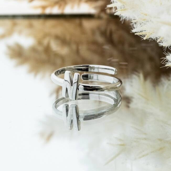 Imotionals One Size Letter Ring N Zilver