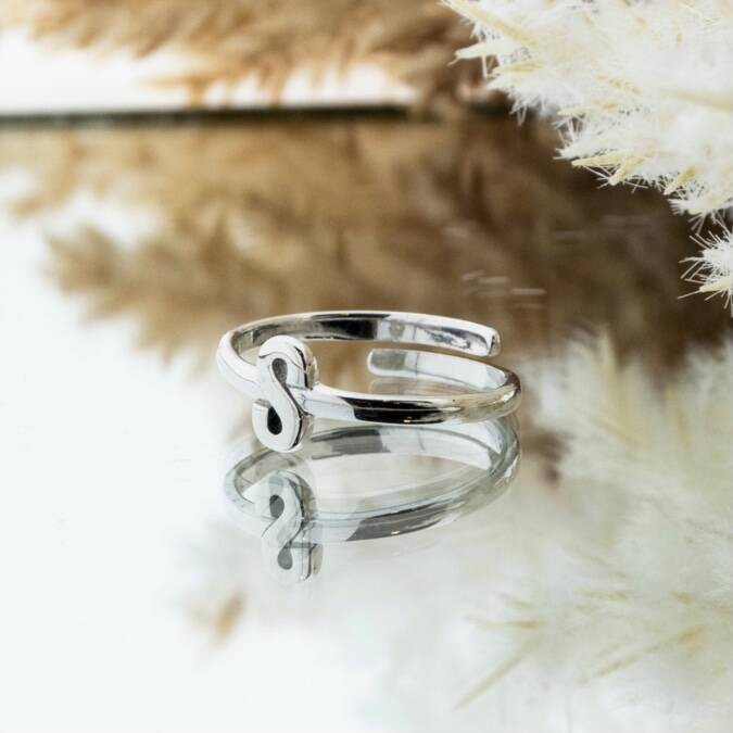 Imotionals One Size Letter Ring S Zilver