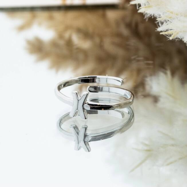 Imotionals One Size Letter Ring X Zilver