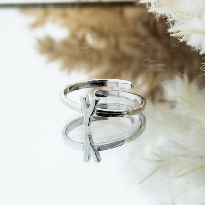 Imotionals One Size Letter Ring Y Zilver