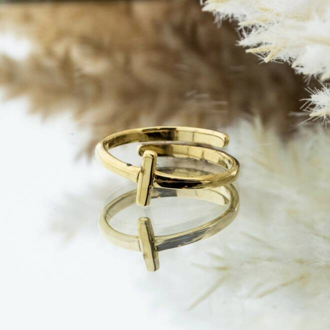 Imotionals One Size Letter Ring I Goud