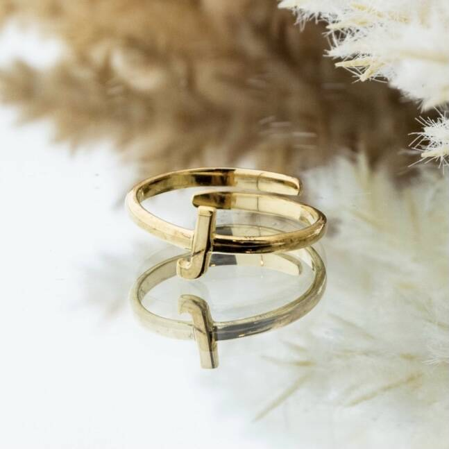 Imotionals One Size Letter Ring J Goud