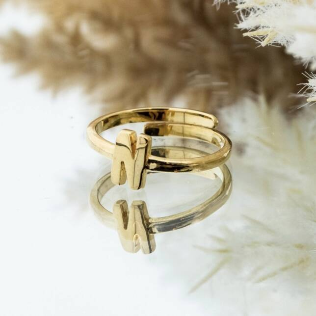 Imotionals One Size Letter Ring N Goud