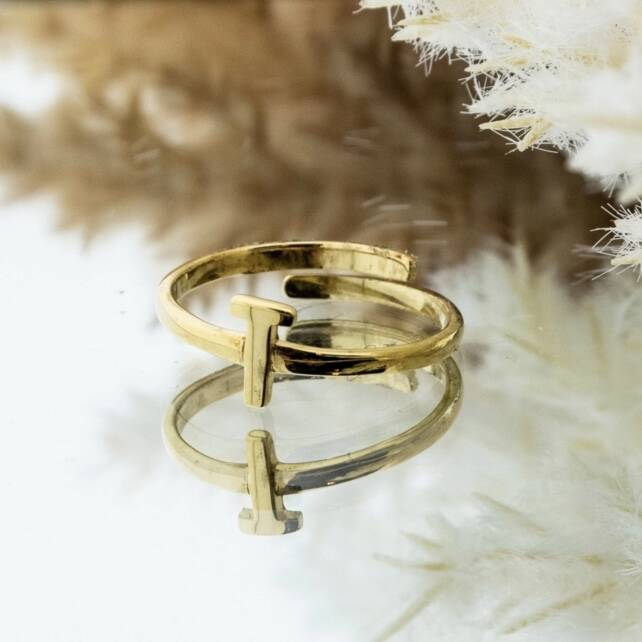 Imotionals One Size Letter Ring T Goud